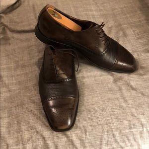 Florsheim Brown Cap Toe Shoes
